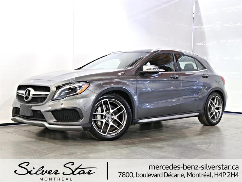 Pre owned 2015 mercedes benz gla gla45 amg suv in montr al for Silver star mercedes benz parts